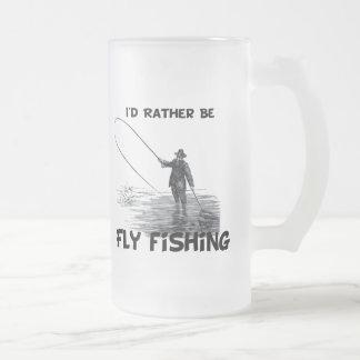 ID är ganska flygfiske Frostad Glas Mugg