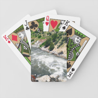 Idaho flod som leker kort spelkort
