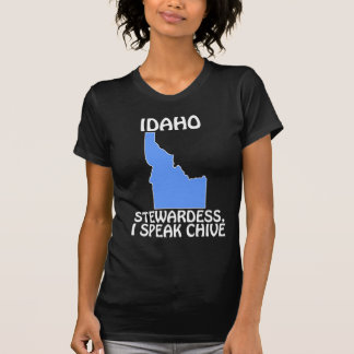 Idaho - stewardessen, talar jag gräslöken tee shirt