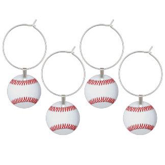 Idéer för party för baseballtema vuxna berlock vinglas