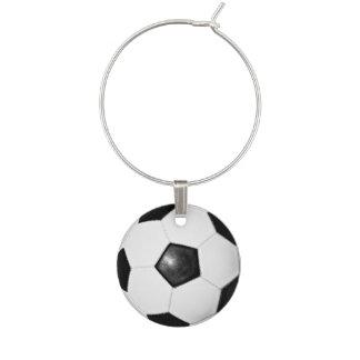 Idéer för party för fotbollbolltema vuxna berlock vinglas