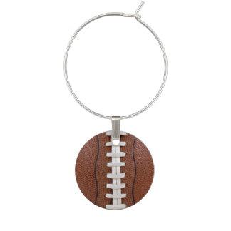 Idéer för party för fotbolltema vuxna berlock vinglas