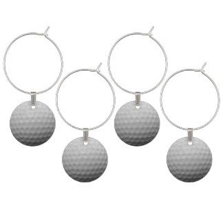 Idéer för party för golfbolltema vuxna berlock vinglas