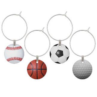 Idéer för party för sporttemasportfantaster vuxna berlock vinglas