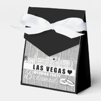 Idéer för Vegas bröllopgåva - svart trä Presentaskar
