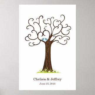 Identifiera med fingeravtryck affischen för träd poster