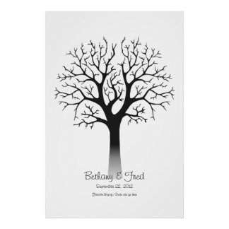 Identifiera med fingeravtryck träd 40 x60