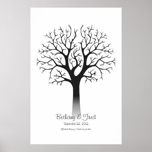 """Identifiera med fingeravtryck träd 40"""" x60 """", affisch"""