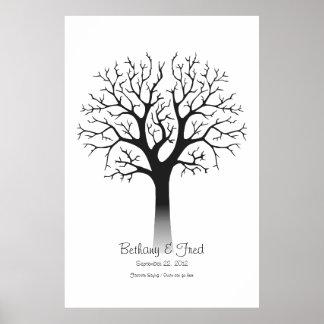 """Identifiera med fingeravtryck träd 40"""" x60 """", poster"""