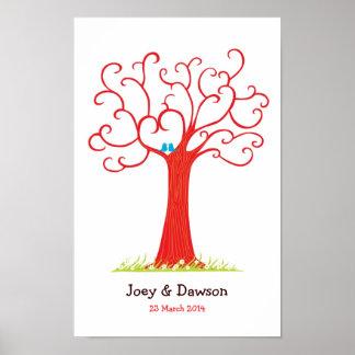 Identifiera med fingeravtryck träd som gifta sig ( poster