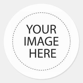 idérik bilder runt klistermärke
