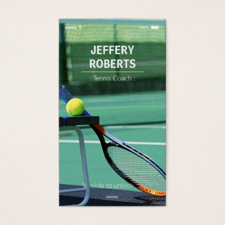 Idérik instruktör för tennislagledaretennis visitkort