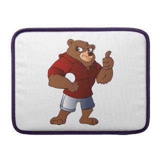 idrotts- björninnehav en boll sleeve för MacBook air