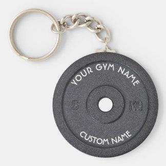 Idrottshallägare eller användare med rolig krökt rund nyckelring
