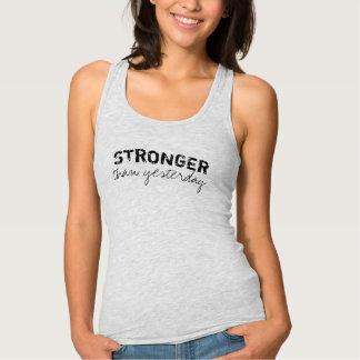 Idrottshalltanktop - starkare än igår tee shirt