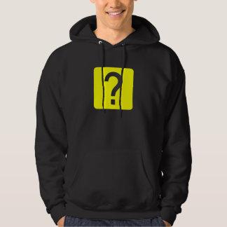 Ifrågasätta markerar kvadrerar panelen sweatshirt
