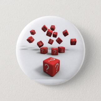 ifrågasätta markerar röd tärning standard knapp rund 5.7 cm