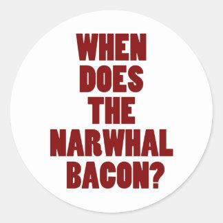 Ifrågasätta, när gör den Narwhal baconen Reddit Runt Klistermärke