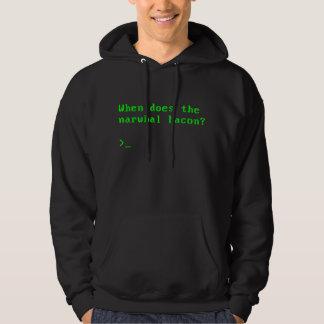 Ifrågasätta, när gör den Narwhal baconVGAEN Reddit Sweatshirt Med Luva