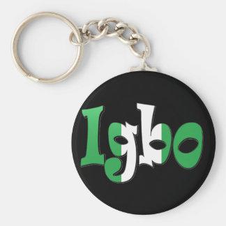 Igbo (nigeriansk flagga) rund nyckelring