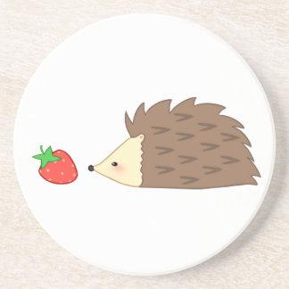 Igelkott och jordgubbe underlägg
