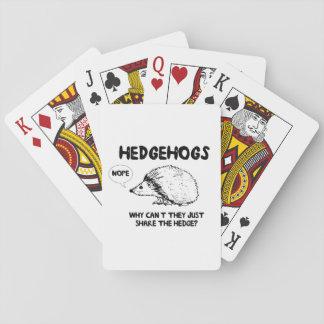 Igelkottar delar inte spel kort