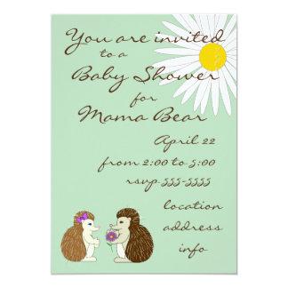Igelkottgender avslöjer baby showerinbjudan 12,7 x 17,8 cm inbjudningskort