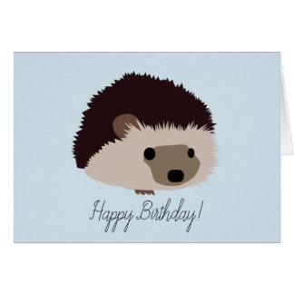 Igelkottgrattis på födelsedagenkort hälsningskort