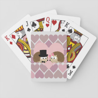Igelkottkärlek med hjärtor spelkort