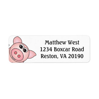 Iggy de Piggy etiketterna Returadress Etikett
