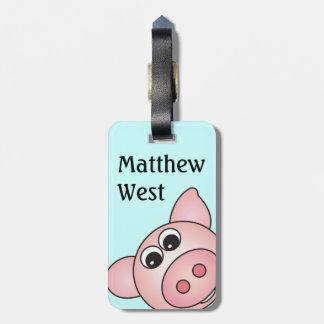 Iggy det Piggy hänger lös märkren Bagage Lapp
