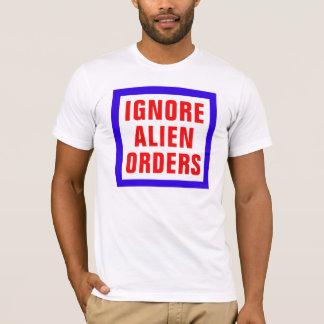 Ignorera främlingen beställer t shirt