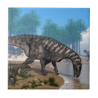 Iguanodon dinosaurs kakelplatta