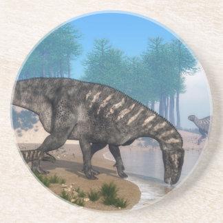 Iguanodon dinosaurs underlägg sandsten