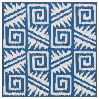 Ikat Aztec - Denimblått och vit