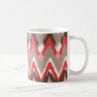 iKat inspirerat rosabruntmönster Kaffemugg