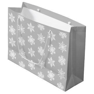 Ikat snöflingor - silvergrå färg och vit