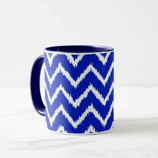 Ikat sparrar - koboltblått och vit mugg
