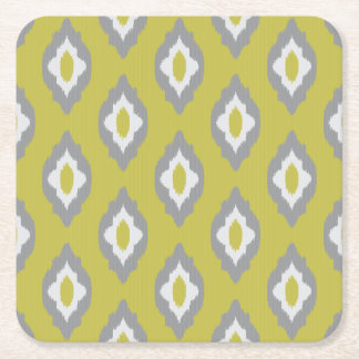 Ikat vintagemönster underlägg papper kvadrat