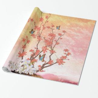 Ikebana visning presentpapper