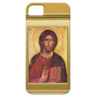 Ikon av asaint med en gospelbok iPhone 5 skal