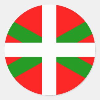Ikurrina baskisk flaggaklistermärke runt klistermärke