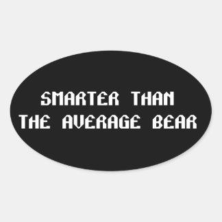 Ila björnen ovalt klistermärke