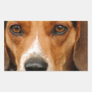 Ila den härliga Beaglejakthunden Rektangulärt Klistermärke