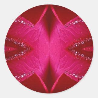 Ila enkla diagram - röd n rosa ros för gnistra runt klistermärke