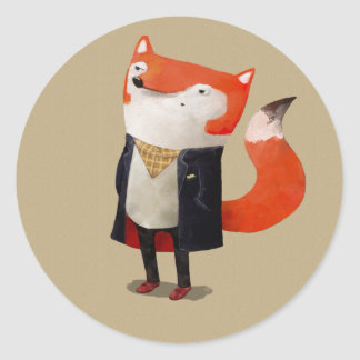 Ila räven runt klistermärke