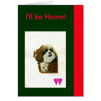 I'll be Home Murphy Dog Two Hearts jGibney The MUS Card