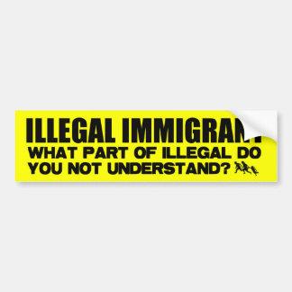 Illegal invandrare bildekal