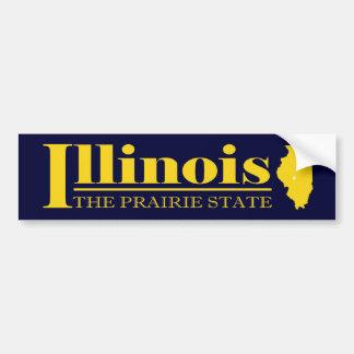 Illinois guld bildekal