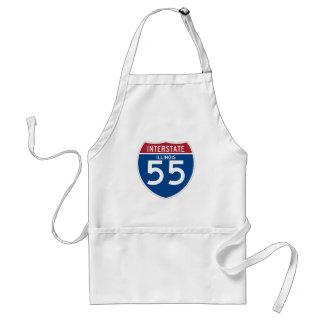 Illinois IL I-55 skyddar den Interstate huvudvägen Förkläde